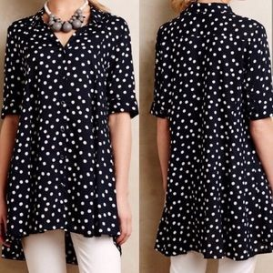 Anthropologie polka dot tunic